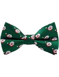 Doitsa Pajarita Hombre Moda Boda ajustable del smoking corbata Pajarita de navidad Árbol de navidad Copo de nieve Ocio disponible en diferentes colores