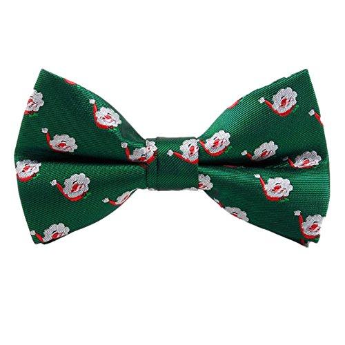 Demarkt Weihnachten Herren Schleife Fliege Schlips für Männer aus Polyester 12x6.5CM