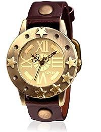 SPYN Analog Gold Dial Watch For Women Leather Belt Women's Watch
