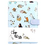 Best cartoon Color Contacts - Cute Cartoon Cat Diary Notebook Gradient Color Pages Review