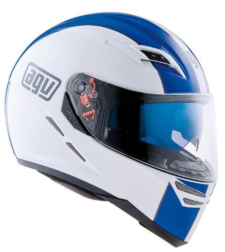 Helm AGV Integralhelm weiß blau Gr. XL