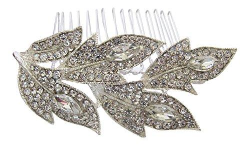 Pick A Gem Accessoires cheveux accessoires cheveux/Bal de mariage Design feuilles Peigne à cheveux/Argent