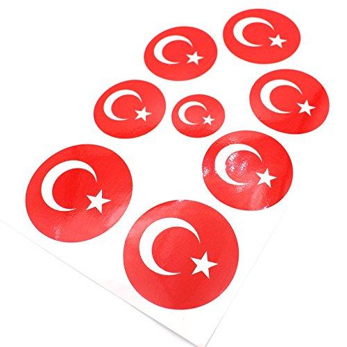Finest-Folia Digitaldruck Emblem Ecken Aufkleber (Türkei)