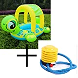 Generic Tortoise Inflatable Swimming Pools Accessories Baby Plastic Kids Children Toddler Baby Seat Float for 0-3years pump swimming ring