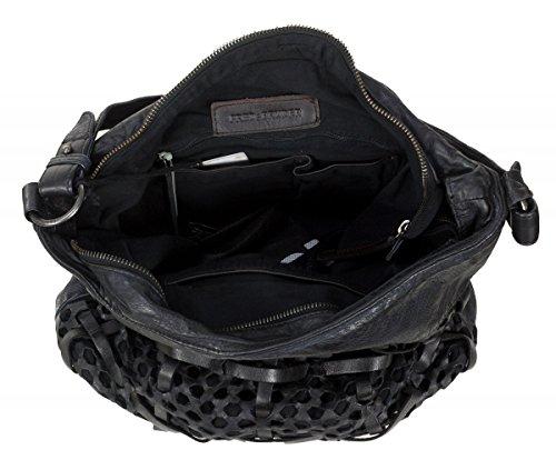 FREDSBRUDER Damen Ledertasche FUNCTIONAL Black