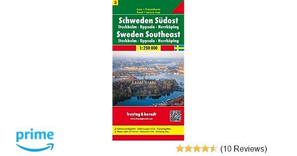 freytag berndt autokarten schweden sudost stockholm uppsala norrkoping blatt 3 massstab 1 250 00
