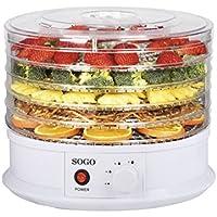 SOGO Deshidratador de Alimentos Giratorio para secar y conservar los nutrientes de Frutas, Verduras y