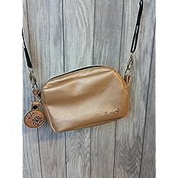 Ausgehtasche Handtasche gold Schmetterling Cambag Abendtasche Bag golden Tasche mit Pusteblumenanhänger edel