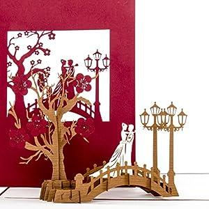 Hochzeitskarte 3D Bridge Of Love Hochzeit Verlobung