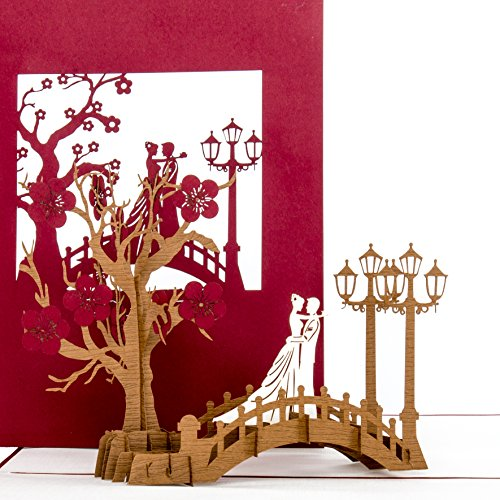 """Hochzeitskarte 3D""""Bridge of Love"""" Hochzeit & Verlobung - Hochzeitskarte, Einladung, Wedding Cards - Verlobungskarte, Hochzeitseinladung & Geschenk"""