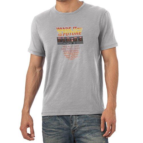 NERDO - I made it to the Future - Herren T-Shirt Grau Meliert