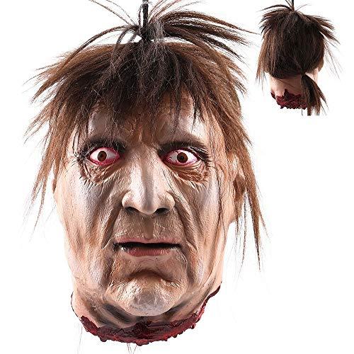 RBH Halloween Hänge Guillotine Dekoration, Scary Hanging Ghost Props, Bloody Cut Skull, Safe Latex, Creepy - Geeignet für Bars, Haunted House Dekoration