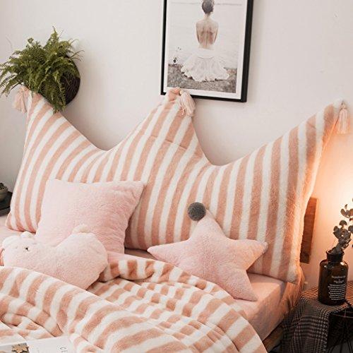 CUSHION MEILING Kissen Rosa Streifen Nachahmung Kaninchen Bett Einfache Kissen Prinzessin Wind Kissen Abnehmbare Bett aus Flexible Verpackung Lumbar (größe : 120 * 75cm) (Streifen-bett, Kissen)