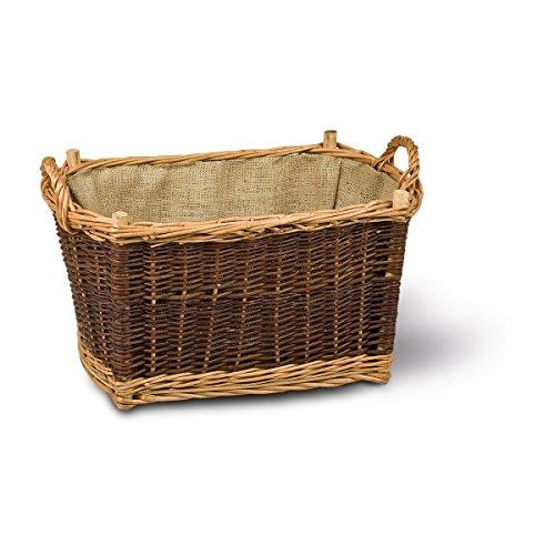 Chimenea Cesta * cesta leña * * mimbre 50x 33Adam