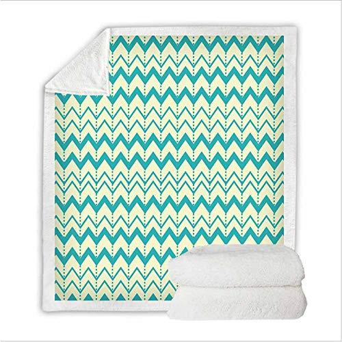 JCJMM Abstrakte Geometrie Bett 3D Quilt Decke Streifen Kreis Muster Fleece Decke Tragbare Gemütliche Throw Home Decke Für Couch Bett Reisebett Auskleidungen 130 * 150Cm A -