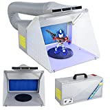 Display4top Airbrush Cabine d'aspiration illuminé pour Airbrush LED