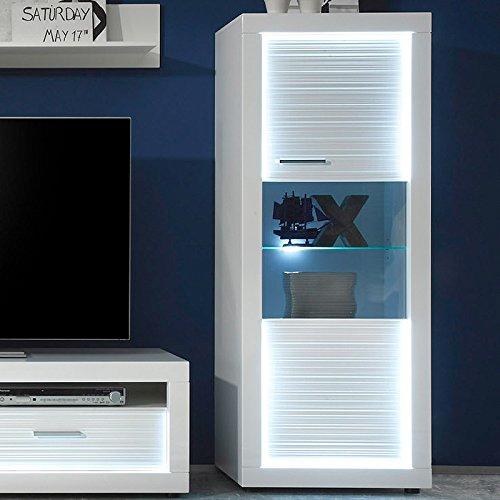 Wohnwand & Sideboard Hochglanz weiß Vitrine Anbauwand Schrankwand Fernsehschrank - 5