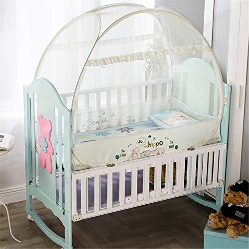 FCZH Moskitonetzzelt, Aufklappbar für Betten Anti-Mückenstiche Faltbares Design mit Netzboden für Babybett, 2 Einträge,c,120m