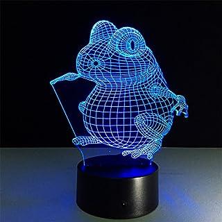 ATD® Frosch Bunte Gradient Touch 3D Effekte LED Kind Schlafzimmer Nachtbeleuchtung Nachttischleuchte