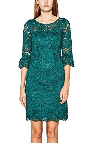 ESPRIT Collection Women's 097eo1e004 Dress, Green (Dark Teal Green 375), 40
