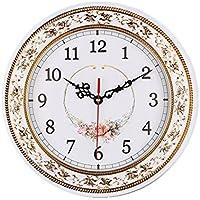 Foxtop Reloj de Pared Silenciosa Floral Para la Decoración de la Sala de Estar de la Cocina, Reloj de Pared Vintage