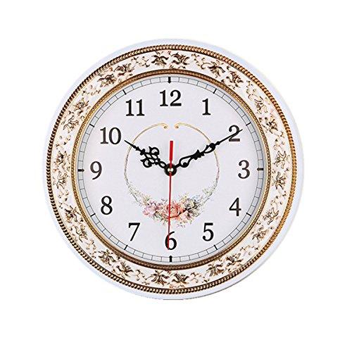 Wanduhr Küchenuhr, Foxtop 28 cm Klassisch Retro Blumen Wanduhr Uhr Geräuschlose Stumm Wanduhr Ohne Tick Tack Geräusch