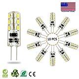 Lampadina G4 LED 10PCS, Akindoom 1,5 Watt AC DC 12V Equivalente a 10W T3 Lampadina alogena Ricambio Angolo a 360 ° Non regolabile (Daylight White 6000K-7500k)