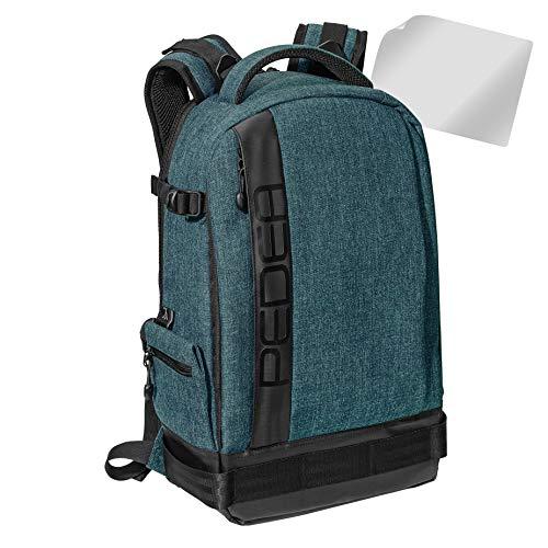 PEDEA SLR-Kamerarucksack Fotorucksack mit Displayschutz für Fujifilm XF10 / Sony Alpha 5000 / Canon EOS 5D Mark IV, 6D, 600D, 700D / Nikon D5000, D5100, D7200 / Panasonic Lumix DMC G5 GF7, grau