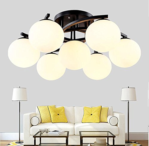 WEITING Contrató a nórdica ikea contratada, luz de techo de hierro forjado, comedor sala de estar, dormitorio absorben la luz de bóveda , 7 head