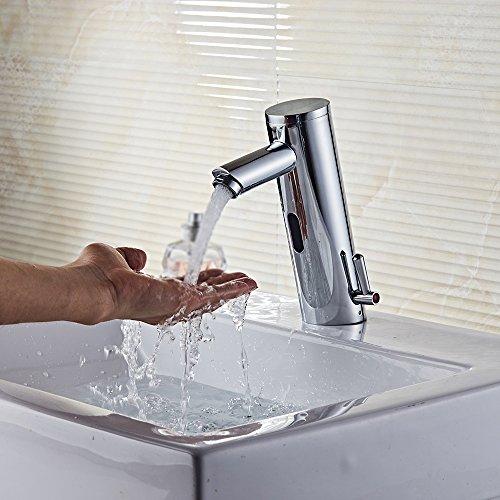 Decdeal Sensor Wasserhahn IR Waschtischarmatur Waschbecken Mischbatterie Heiß und Kalt Wasser - Küche Sensor Wasserhahn