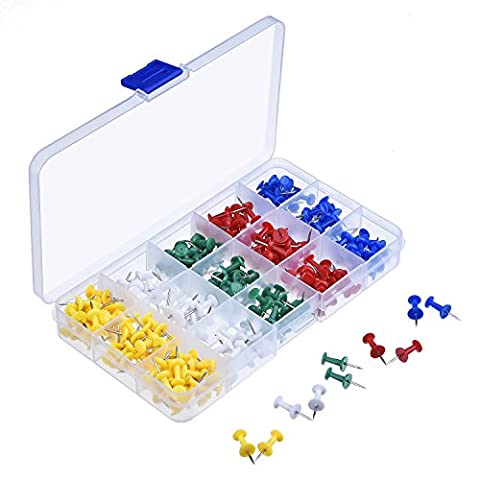 eBoot 200 Pièces Multi-Coloré Punaises pour Carte