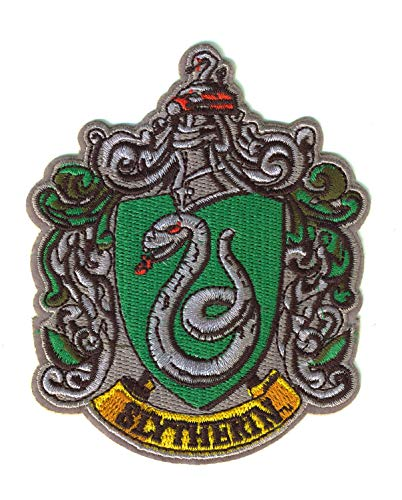 Set Products Harry Potter Slytherin Bügelbilder - Iron on Patch - Bügeleisen Patches zum Anpassen Ihrer Kleidung oder Taschen - Gryffindor, Slytherin- Mehrere Modelle verfügbar