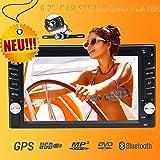 Neue Kapazitiven Touchscreen 2DIN Auto DVD CD Player GPS Navigation 15,7cm-INDASH Auto GPS Stereo Audio Bluetooth Kfz Video 1080p HD USB SD FM AM RDS Radio inkl. 8GB-Karte Haupteinheit mit hinten Kamera