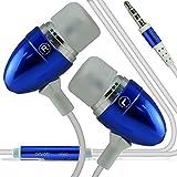 I-Sonite (blau) Qualitäts-Kopfhörer / Kopfhörer 3,5 mm Klinke mit Mikrofon und Ein / Aus-Knopf für Antwort ZTE Nubia Z17S