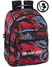 Ecko 2018 Sac à dos loisir, 43 cm, 21 liters, (Negro, rojo y )