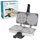 Lucidato CucinaPro Pizzelle Maker 220-05P - Fa due 5 i cookie in una sola volta