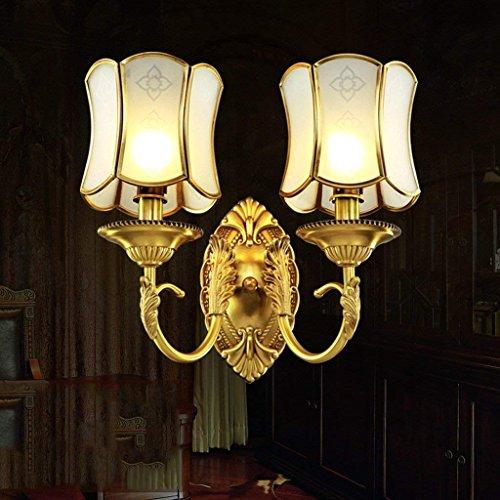 Jiaa Home Decor Produkte mit modernen und Stilvollen Aussehen Design Wandleuchte passend Schlafzimmer voller Kupfer Home Gang Licht Korridor Wand Strahler,2T -