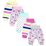 TupTam Unisex Baby Pumphose Jersey Schlupfhose 5er Pack, Farbe: Mädchen 3, Größe: 56