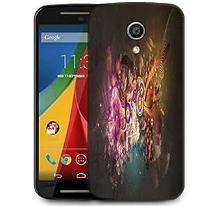 Snoogg Targets And Shapes Designer Protective Phone Back Case Cover For Motorola G 2nd Genration / Moto G 2nd Gen