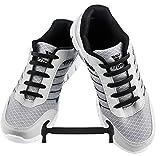 WELKOO® Lacets Elastique en Silicone Sans Lacage Etanche pour Chaussure Adulte -16pcs Couleur Noir