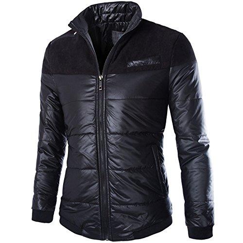 M&C Herbst- und Wintermänner aufrechte Kragenjacke Leichte warme unten kleidende Kleidung Großer Mantel