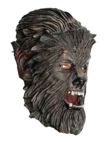 Wolfman 3/4 Latex Maske Adult Halloween Kostueme Maske Gesicht Maske Over-the-Head-Maske Kostuem Stuetze Scary Creepy Schreckliche Maske Latex Maske fuer Maskerade Make-up Party