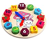 MAGIKON Cartoon Rabbit Number And Shape Matching Clock Toy