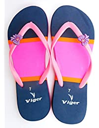 VIGER Go Women's Pink Blue Flip-Flops & House Slippers