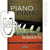 Piano (+ 3 CDs) con partituras. Los 100 mejores de melodías conocidas desde clásica hasta Pop para arreglados para piano fácil. (bolsillo) de Stefan Thurner incluye pinza (funnyusbstick/sheet music)