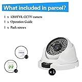 SW 1200TVL Smart Home Kamera Sicherheitssystem /HD Überwachungskamera Dome Outdoor (Leistungsstarke IR LEDs, Infrarot Nachtsicht, Weitwinkel, wetterfest Bewegungserkennung, 48 LEDs) weiss - 2