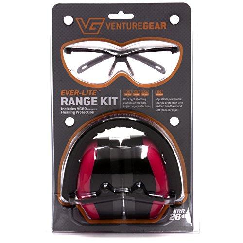 Venture Gear Shooting Glas und Gehörschutz Reihe Kit, Unisex, Rose