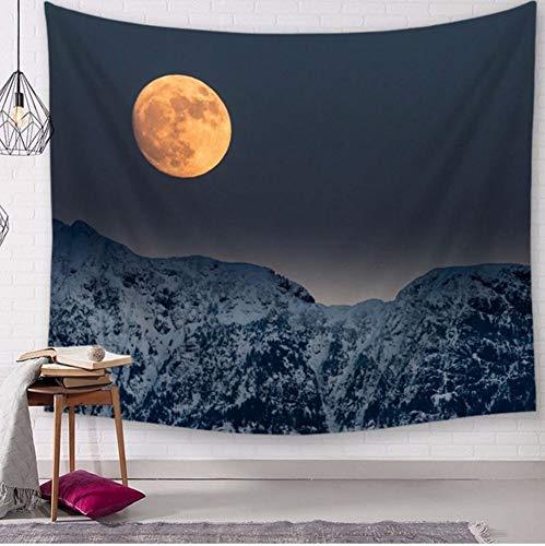 Wandteppich Teppich (Qhrdp Schöne Nebel Nebel Wald Wandteppich Nordischen Berg Wandbehang Tenture Teppich Dekorative Landschaftlich Wandbild Herbst Tuch Tapiz, 150X200 cm)