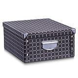 Zeller 17773 Aufbewahrungsbox'Texture', Pappe, L 40 x B 33 x H 17 cm, kaffeebraun