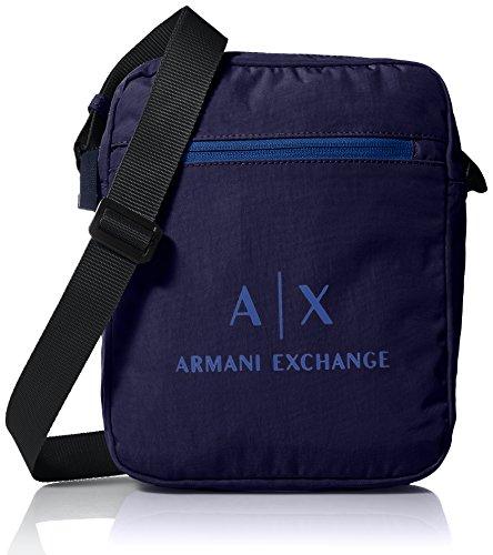 Armani Exchange Herren Messenger Bags Geldbörse, Blau (Dark Sea), 45.0x14.0x35.5 cm (Boss Messenger Hugo Männer Bag Für)